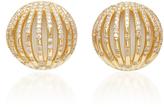 Susan Foster 18K Gold Diamond and Enamel Stud Earrings