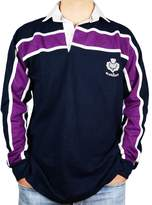 iluv Scottish Mens Rugby Shirt Purple Stripe Long Sleeve Navy Size 3X-Large