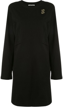 McQ Embroidered Long-Sleeve Dress