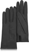 Forzieri Women's Black Unlined Italian Leather Gloves