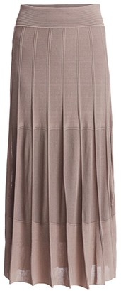 Agnona Ribbed Knit Midi Skirt