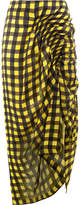 Preen by Thornton Bregazzi twisted effect checked skirt
