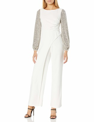 Adrianna Papell Women's Sequin & Crepe Jumpsuit