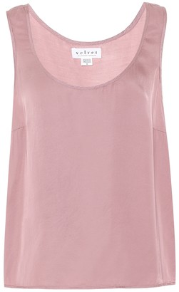 Velvet Darla satin tank top