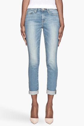 FRAME DENIM Faded Blue Superba Le Skinny De Jeanne cropped jeans