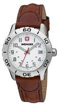 Wenger Women's 34mm Brown Leather Band Steel Case Quartz Analog Watch 721.201