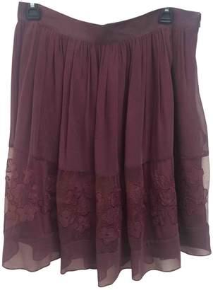 Galliano \N Burgundy Silk Skirt for Women