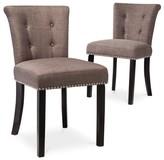 Office Star Scrollback Nailhead Trim Dining Chair (Set of 2) - Threshold