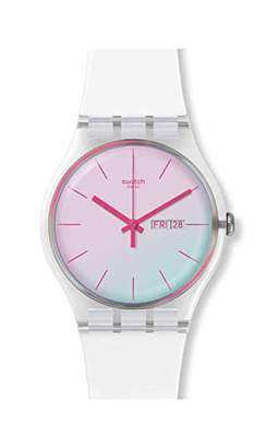 Swatch Unisex Adult Analogue Watch with Silicone Strap SUOK713