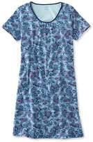 L.L. Bean L.L.Bean Supima Nightgown, Short-Sleeve Paisley