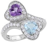 Allura 2 1/2 CT. T.W. Amethyst Blue Topaz and Simulated White Sapphire Ring in Sterl...
