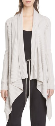 Rick Owens Long Draped Wool Cardigan