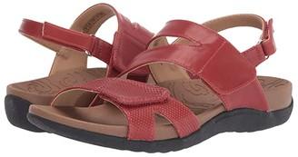 Rockport Ridge Asymmetrical Strap (Red) Women's Sandals