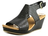 Dr. Scholl's Barely Open Toe Leather Wedge Sandal.
