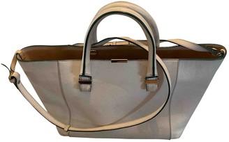 Victoria Beckham Quincy White Leather Handbags