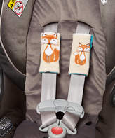 Beige Fox & Teal Minky Reversible Strap Cover - Set of Two