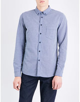 Levi's Levis Made & Crafted Geometric-patterned regular-fit button-down cotton shirt