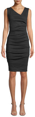 Nicole Miller Ponte-Knit Asymmetrical Dress