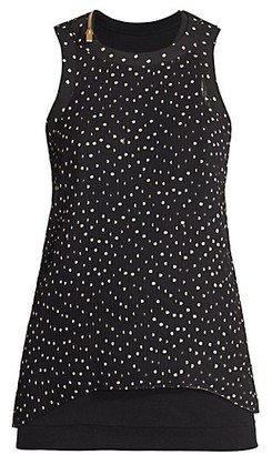 Sacai Polka Dot Pleated Tank Top