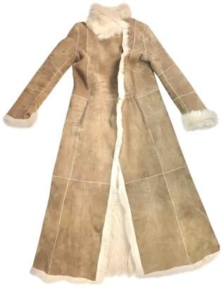 Joseph Beige Shearling Coat for Women