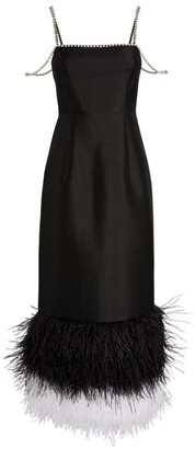 Huishan Zhang Astra Feather-Trim Dress
