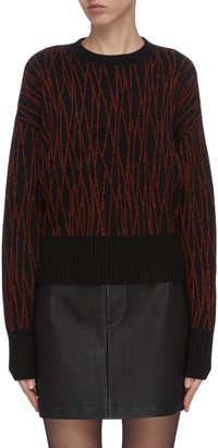 Equipment 'Betia' abstract pattern wool knit sweater