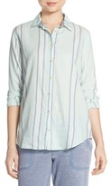 PJ Salvage Women's Stripe Cotton Twill Top
