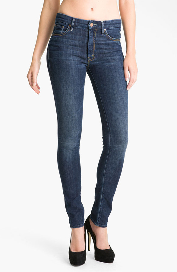 Mother 'The Looker' Skinny Stretch Jeans (Flowers from the Storm)