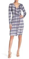 Abound Faux Wrap Tie Dye Dress