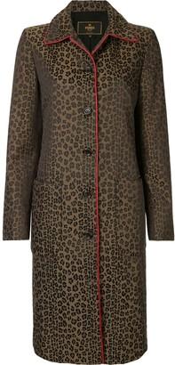 Fendi Pre Owned Leopard Print Midi Coat