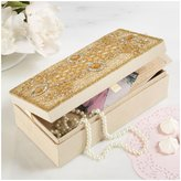 Twos Company Two's Company Beaded Gold Jewelry Box with Mirror