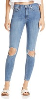 Free People Busted Skinny Jeans in Blue