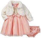 Nannette Baby Sequin Top Dress, Faux Fur Shrug, & Bloomer Set (Baby Girls 0-9M)