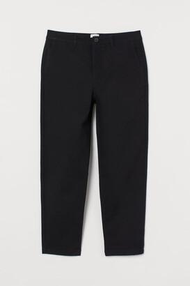 H&M Slim Fit Cropped Chinos - Black