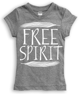Urban Smalls Heather Gray 'Free Spirit' Fitted Tee - Toddler & Girls