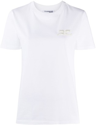 Courreges embroidered logo T-shirt