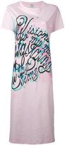 Kenzo Lyrics T-shirt dress - women - Cotton - L