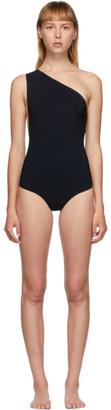 Bottega Veneta Black One-Shoulder One-Piece Swimsuit