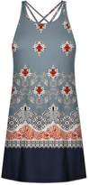 Udear UDEAR Women's Casual Dresses Print - Slate Scarf Print Strappy-Back Sleeveless Dress - Women & Plus