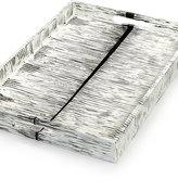 Heart of Haiti Papier Mache Rectangle Black/White Tray