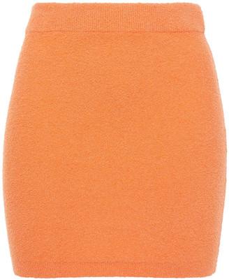 Ninety Percent Organic Cotton-blend Terry Mini Skirt