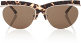Linda Farrow Tortoiseshell-Trimmed Acetate Sunglasses