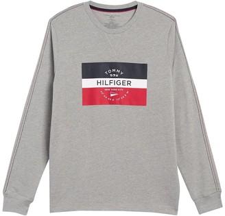 Tommy Hilfiger Long Sleeve Logo Crew Neck T-Shirt