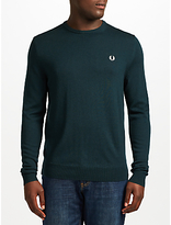 Fred Perry Classic Crew Neck Jumper, Brit Racing Green