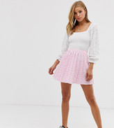 Another Reason pleated mini skirt in floral