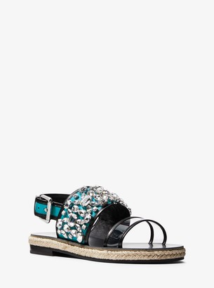 Michael Kors Lafayette Embellished Calf Leather Sandal