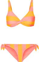 Solid and Striped - The Jane Striped Triangle Bikini - Yellow