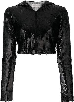 Faith Connexion cropped sequinned jacket