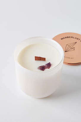 Wanderlust Wicks And Stones Wicks and Stones Crystal Candle