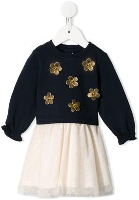 Little Marc Jacobs Petal-Applique Tulle Dress